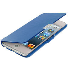 For iPod Touch 5th Gen 5G 5 Wallet Leather Hard Cover Case Pouch Blue