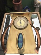 """More details for beldray clock arts & crafts rare copper brass 12"""" tall classic ruskin decoration"""