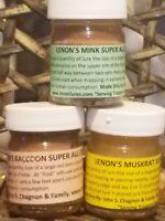 Trappers Favorite 3 Lenon Water Furbearer Package Muskrat, Mink & Raccoon 1 oz