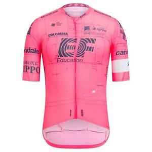 2021 Cycling Jersey Mens Short Sleeve Pro Team Pink Cycling Jersey