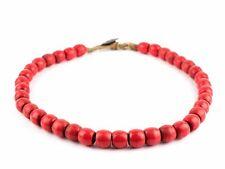 Jumbo Red Olombo Ghana Glass Beads 15mm Indonesia Round Large Hole