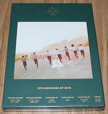 BANGTAN BOYS BTS MEMORIES OF 2016 K-POP 4 DISC DVD + PHOTOBOOK + PHOTOCARD NEW