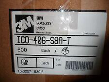 (10 pcs per lot) ICO-406-S8A-T   40 PIN DUAL WIPE IC DIP SOCKET 3M