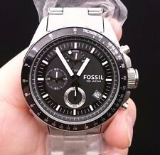 NEW OLD STOCK FOSSIL DECKER CH2600 CHRONOGRAPH STAINLESS STEEL QUARTZ MEN WATCH