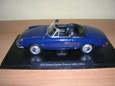 Atlas Fabbri Alfa romeo spider Duetto 1600 année de fabrication modèle 1966 Bleu foncé, 1:24