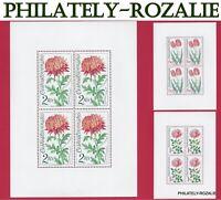 CZECHOSLOVAKIA SHEET STAMPS  MNH ** 1973 Mi 2147 - Mi 2151 FLOWERS
