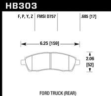 Hawk Disc Brake Pad Rear for 98-05 Ford Excursion / F-250 & F-350 Super Duty