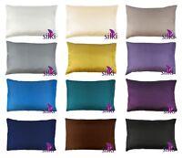 100% MULBERRY 25 momme Silk Pillow case cover QUEEN STANDARD w. hidden zipper