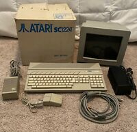 Atari SC1224 Color Monitor Display, Keyboard (520ST), & Mouse TESTED / WORKING