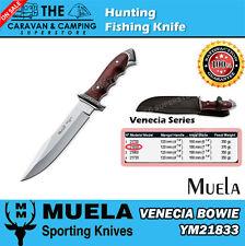 Muela Venecia Bowie  Hunting Fishing Knife 18cm YM 21833 with leather sheath
