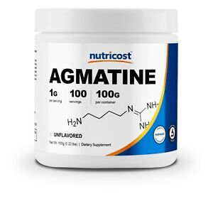 Nutricost Agmatine 100 Grams - 100 Servings of 1000mg Pure Agmatine Sulfate