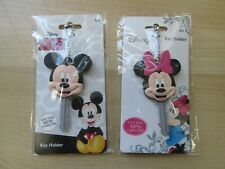 2 PIECE AUTHENTIC DISNEY MICKEY & MINNIE MOUSE KEY HOLDERS COVERS SOUVENIRS