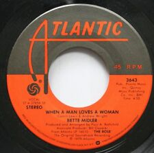 Pop 45 Bette Midler - When A Man Loves A Woman / Love Me With A Feeling On Atlan