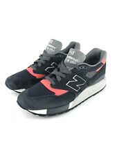New Balance 998 Retro Suede Navy Blue Pink Gray Made In USA M998APC Sz 8