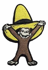 "Curious George with Yellow Hat 3"" Tall Iron-On Patch"