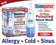 NeilMed Sinugator Inalámbrico lavado nasal Irrigador del seno electrónica-alergia frío