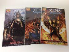 XENA WARRIOR PRINCESS DARK XENA #1-3 (DYNAMITE/SEJIC COVERS/0218637) FULL SET
