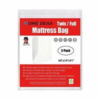 Mattress Bags 2 Pack Storage Cover Bag 2/3/4 Mil Heavy Duty Moving & Storage US