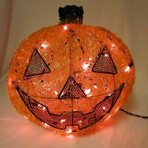 Vintage Jack O' Lantern Pumpkin Lighted Wire Halloween Large