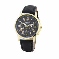 Ladies Wrist Watch Women Quartz Analog S Steel Leather Strap Fashion Gift Uk