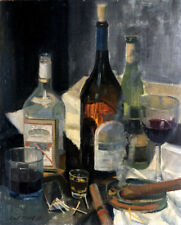 Cigars, Whiskey Shots and Vodka 20x16 in. Oil on panel  HALL GROAT II