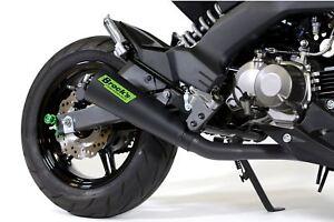 BROCK'S FITS Kawasaki Z125 Pro 2017-2020  ShortMeg 2 Full Exhaust System Black