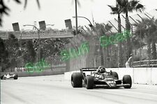 1979 Formula 1 racing Photo negative U.S.G.P James Hunt / Queen Mary background