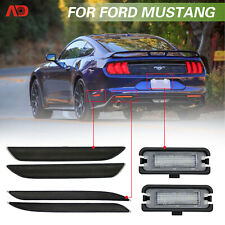For 2015-up Ford Mustang LED Side Marker Bumper Reflector License Plate Light