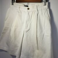 Vintage 90s White Lee Shorts Mom Rise High Waisted Pleated 28 Inch Waist **