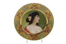 Antique Royal Vienna Porcelain Portrait Hand Painted Plate