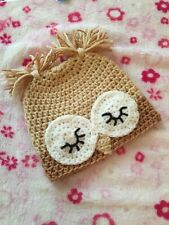 Handmade Crochet Baby Boys Owl Hat Newborn