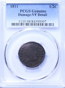 1811 Classic Head Half Cent : PCGS VF Details