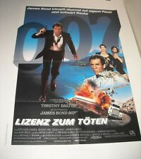 TIMOTHY DALTON as JAMES BOND in LICENSE to KILL FOREIGN MOVIE POSTER CAREY LOWEL