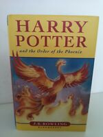 HARRY POTTER  ORDER OF THE PHOENIX FIRST EDITION  HARD BACK