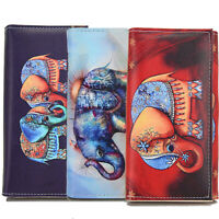 US Women Clutch Leather Wallet Long Card Holder Phone Bag Case Purse Handbag