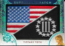 2019 BENCHWARMER 25 YEARS TIFFANY TOTH SUPER FLAG PATCH CARD /1 1/1