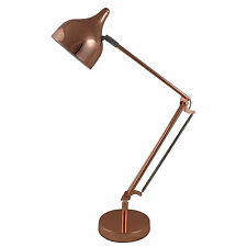 Desk Lamp Stylish Metal Arms With A Metal Shade Copper IT302