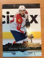 UPPER DECK 2014-2015 SERIES ONE VINCENT TROCHECK YOUNG GUNS HOCKEY CARD #226