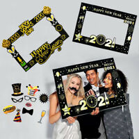 Christmas Happy New Year Birthday Party Paper Photo Booth Prop Frame Background