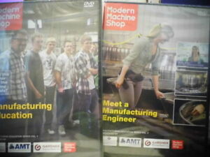 Modern Machine Shop DVD Video 1 & 2 Manufacturing Engineer Education