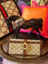 RARE Vintge GUCCI Monogram Travel Accessory Jewelry Case Keeper Roll GG ADORABLE