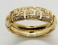 """Versace """"Greca Saffo"""" ring in 18 K Yellow Gold with Diamonds"""