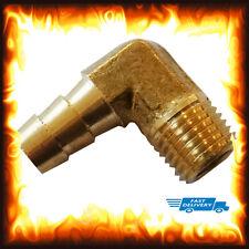 "3/8"" Bsp 6 mm Coude laiton mâle Barb Hose Tail Raccord Carburant Air Gaz Tuyau d'eau huile"