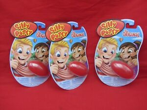LOT OF 3 THE ORIGINAL SILLY PUTTY IN THE RED EGG STOCKING STUFFER USA MADE
