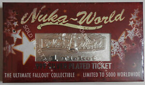FALLOUT NUKA WORLDSILVER PLATED TICKET -  LIMITED EDITION - FREE UK P&P