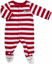"""NWT Carter's """"My 1st Christmas"""" Striped Velour Sleep and Play - 3 Months"""