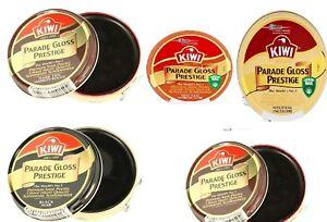 Kiwi Shoe Polish Parade Gloss Prestige Premium 50ml Mid Tan, Black Brown Neutral