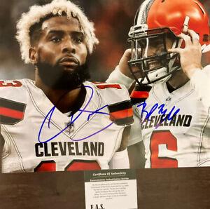 Baker Mayfield Odell Beckham Jr Signed Cleveland Browns 8x10 Photo COA