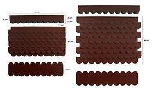 Mini-Dachschindeln Braun,Pappe,Vogelhäuser,Kanichen-Hasenstall,Bausatz,Spielhaus