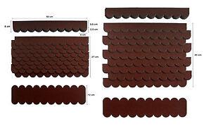 2-Sets,Mini-Dachschindeln Braun,Pappe,Insektenhotel,Windmühle,Vogelhäuser,Villa